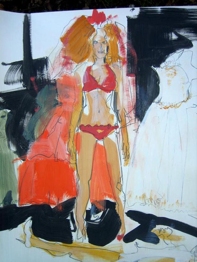 Lisa mit Brautkleid