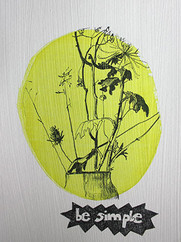 be simple, graphit on undercoated paper,