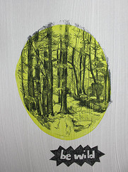 be wild, graphit on undercoated paper, o