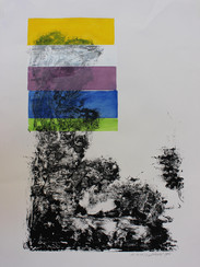 outside, print on paper, 90x64