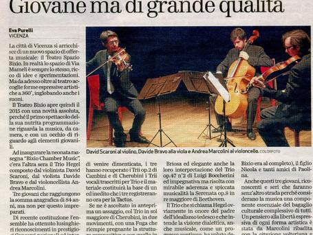 Giornale di Vicenza 09/01/2015