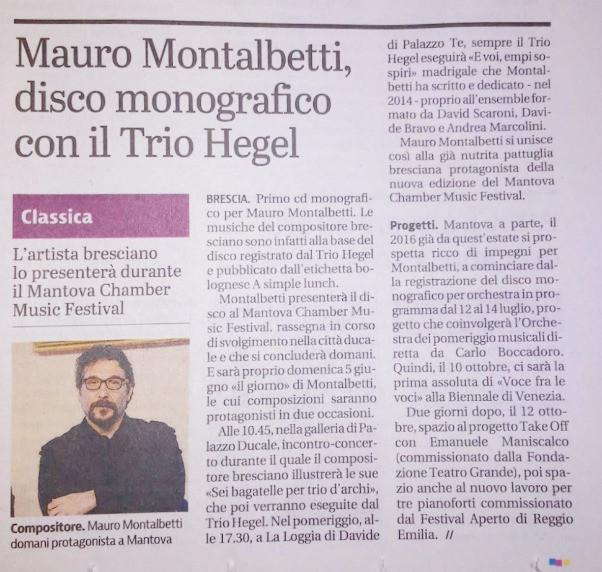 Giornale di Brescia June 2016