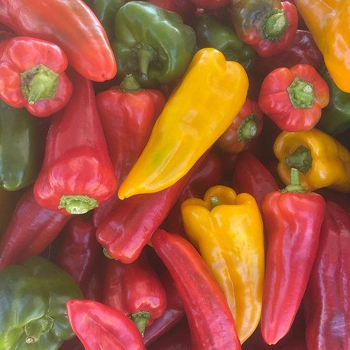 Yellow Italian roasting pepper, lb