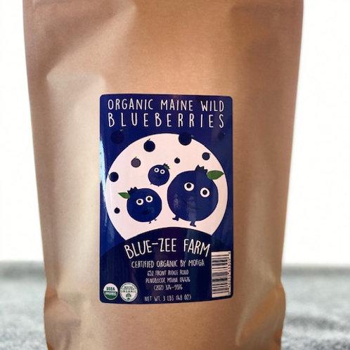 3 lbs Frozen Certified OrganicMaine Wild Blueberries