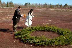 Mark & Renata getting married in the blueberry field