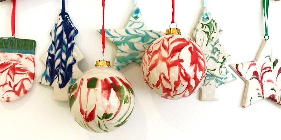 Christmas Decoration Marbling Workshop