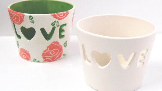 'LOVE' Yarn Bowl/ Tea Light Holder