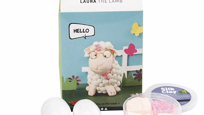 Laura the Lamb DIY Silk Clay Kit