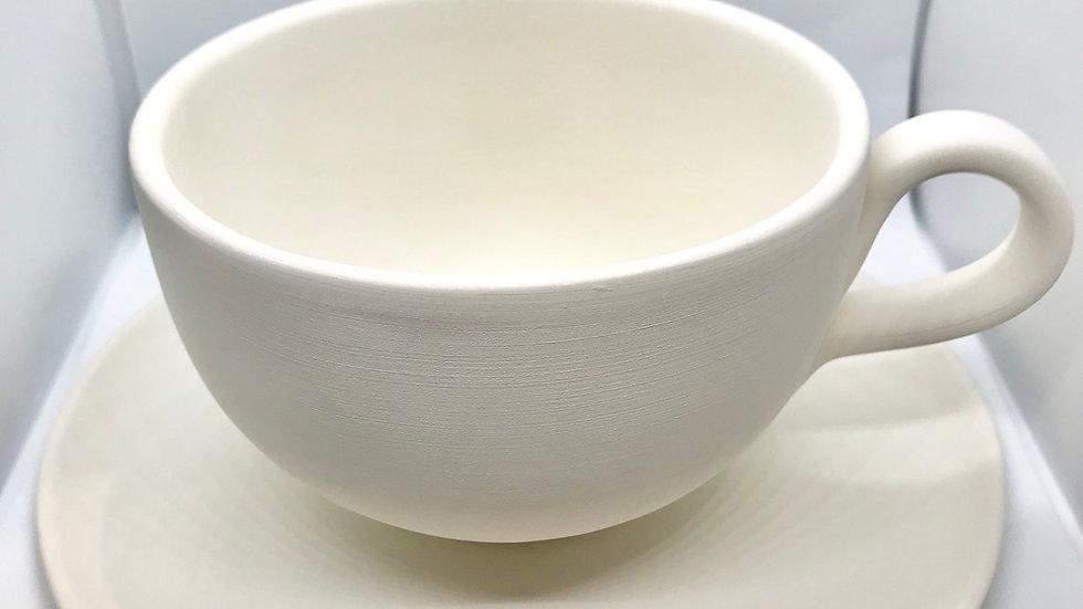 Large Teacup & Saucer