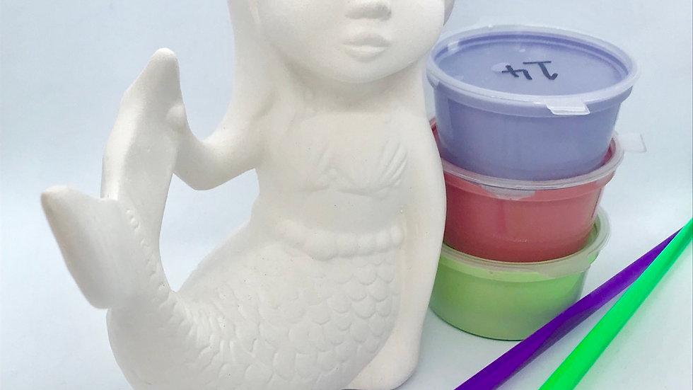 Mermaid Pottery Painting Kit