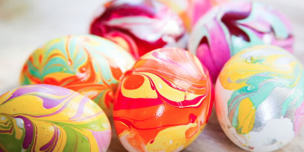 Easter Family Fun - Pottery Marbling