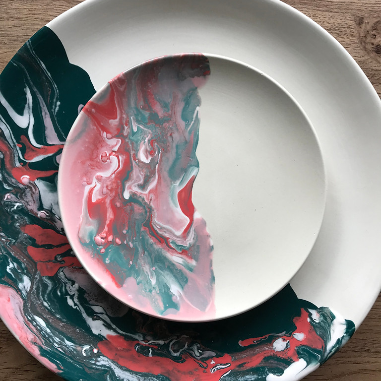 Pour Pottery Marbling Worshop