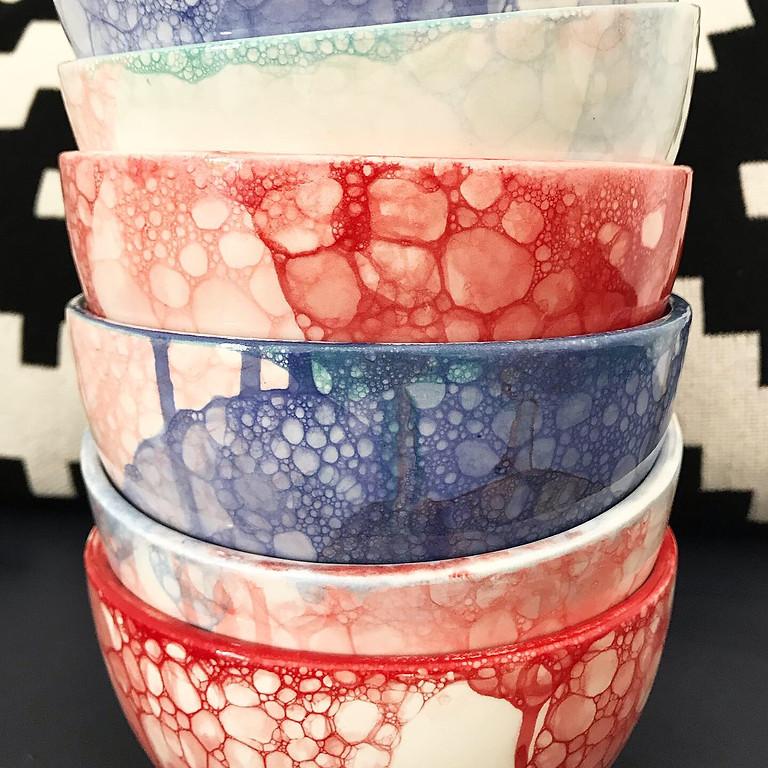 Bubble Pottery Painting Workshop