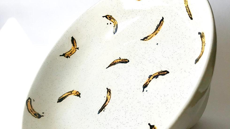 Hand Painted Bananas Fruit Bowl
