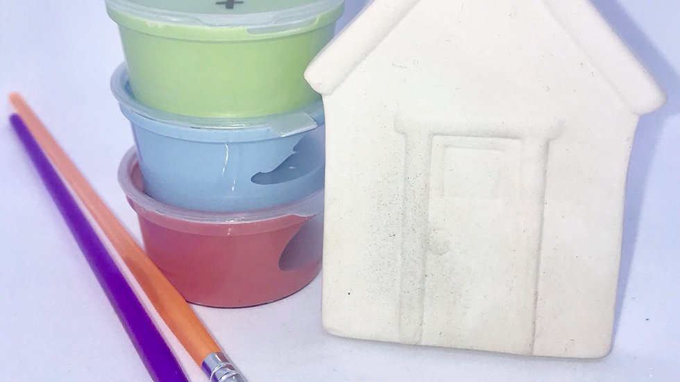 Hanging House Ornament Pottery Painting Kit