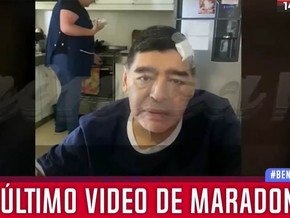 Се појави последната снимка на Марадона (ВИДЕО)