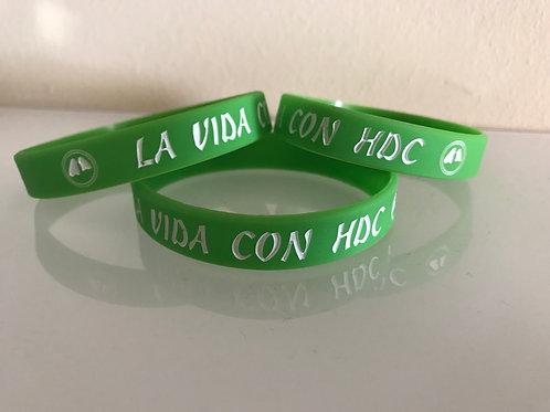 Pulsera Verde - La Vida con HDC