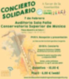 Cartel Concirto Solidario Málaga