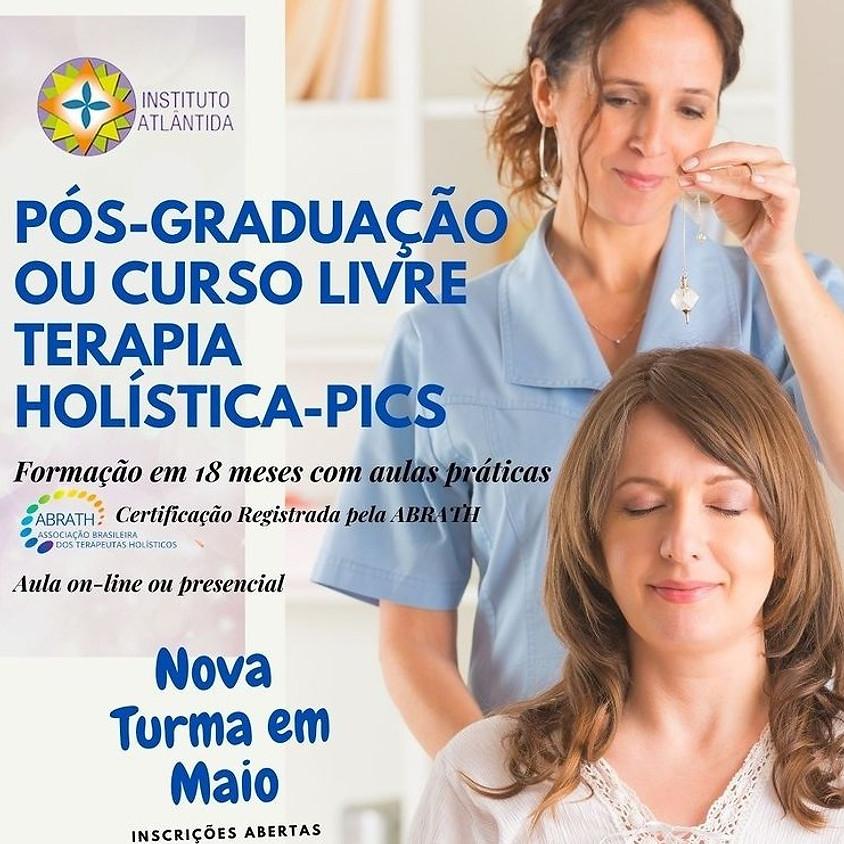 Curso Online ou Presencial: Pós-Graduação ou Curso Livre Terapia Holística - Pics
