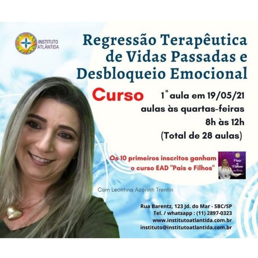 Curso: Regressão Terapêutica de Vidas Passadas e Desbloqueio Emocional
