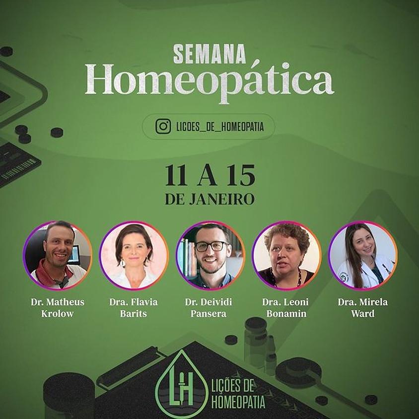 Lives: Semana Homeopática de 11 à 15 de Janeiro