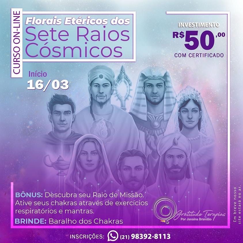 Curso Online: Florais Etéricos dos Sete Raios Cósmicos