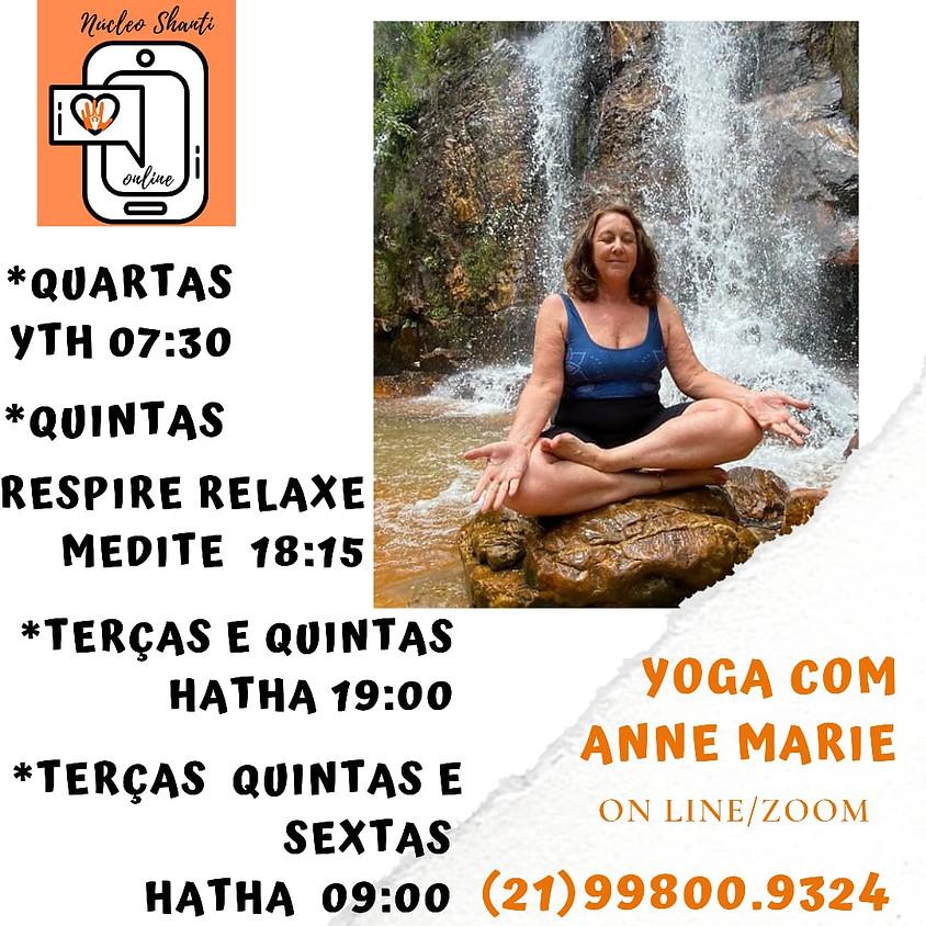 Live: Yoga  - Hatha - com Anne Marie - Terças 19:00hs