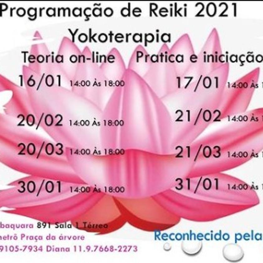 Programação de REIKI 2021 Yokoterapia - Terapia Online - Pratica Presencial