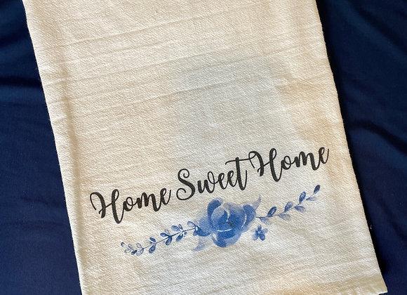 """""""Home Sweet Home"""" Tea Towel"""