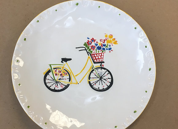 Bicycle Appetizer Plate