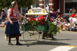 Bloemen wagon
