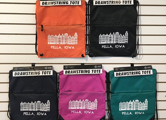 Drawstring Tote with Zipper Pouch