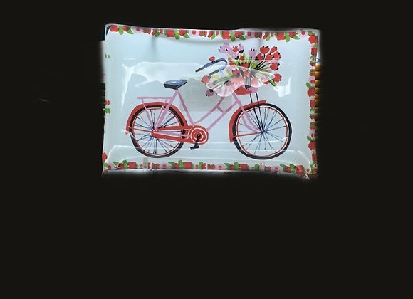 Glass Bicycle Tray