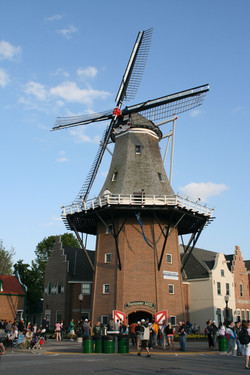 Vermeer Mill with people in front (Ostrander)