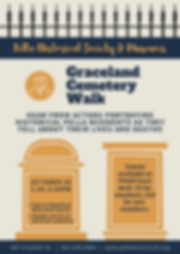 phsm - graceland cemetery walk poster (1