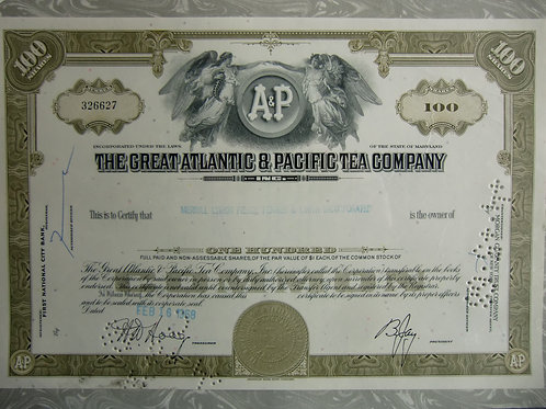 A&P  The Great Atlantic and Pacific tea Company