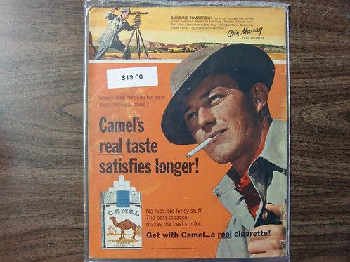Camel cigarettes-satisfy longer