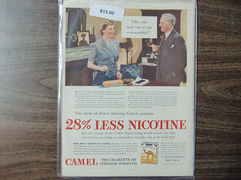 Camel % 28% less nicotine