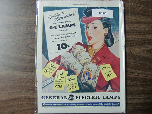 General Electric lamps