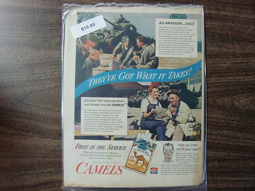Camel cigarettes-first in the service