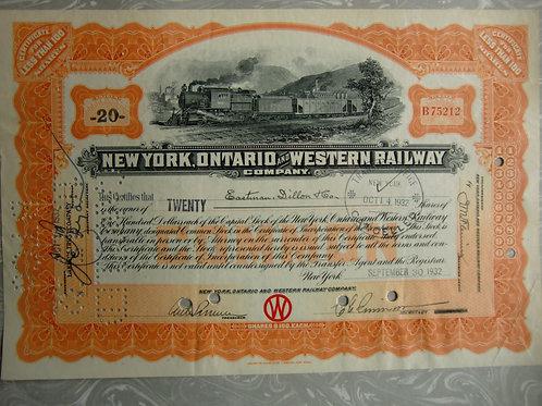 New York, Ontario Western Railway