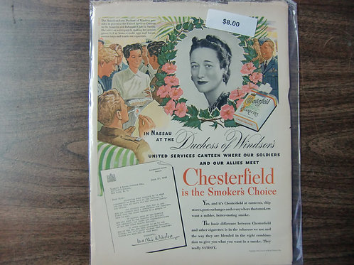 Chesterfield-smokers choice