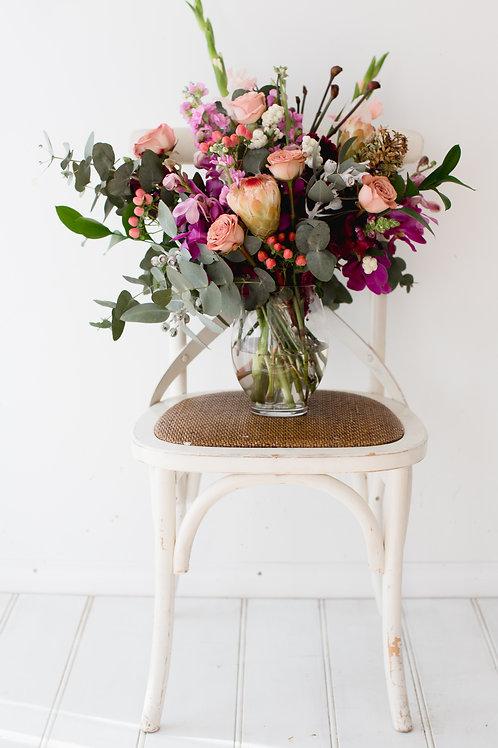Mixed bunch in vase