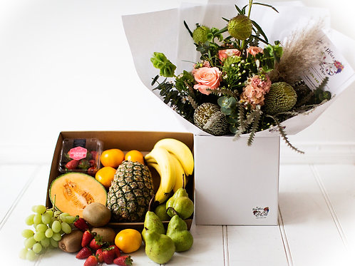 Fruit platter + optional mixed bunch
