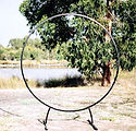 The Posie Place - Black Circular Arbour.