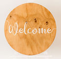 The Posie Place_Timber Round Welcome Sig
