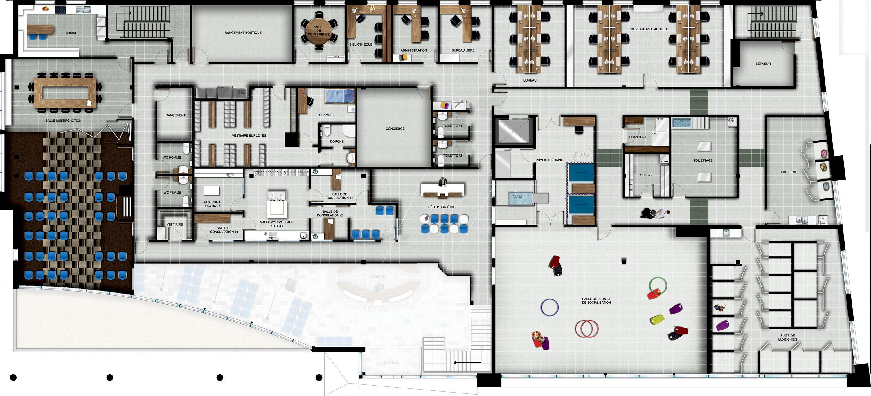 Plan d'aménagement étage