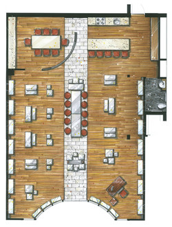 Plan d'aménagement du Showroom