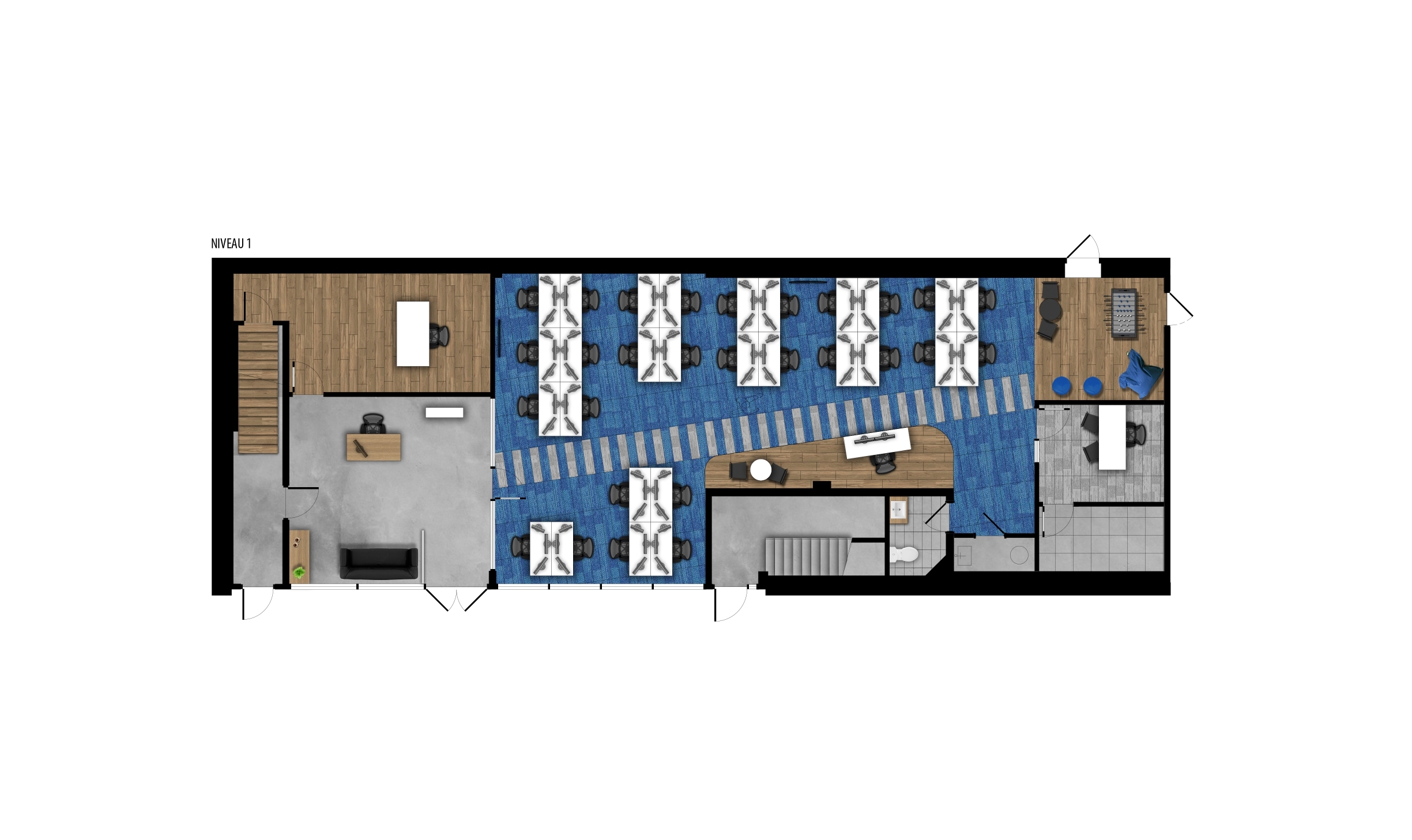 Plan d'aménagement - niveau 1