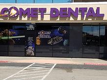 Comet Dental business sign